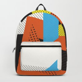Memphis Throwback Retro 1980s 80s Trendy Hipster Bright Shapes Pattern Eighties Backpack