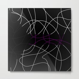Abstract Threads – Demisexual Pride Flag Metal Print