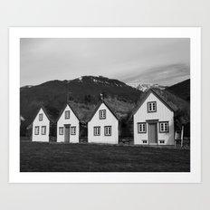 Iceland Sod Houses Art Print