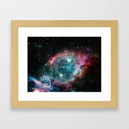 Galaxy and nebula Framed Art Print