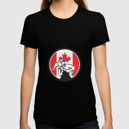 Canadian Handyman Canada Flag Icon T-shirt