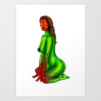 Demon Alien Chick Art Print