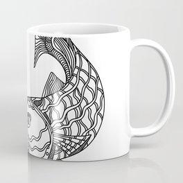 Barracuda Fish Doodle Art Coffee Mug