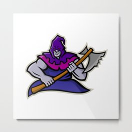 Hooded Medieval Executioner Mascot Metal Print