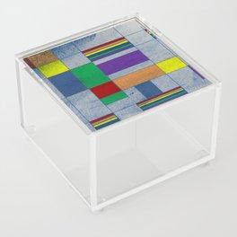 Mid-Century Modern Art - Rainbow Pride 1.0 Acrylic Box