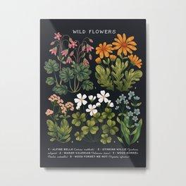 Wild Flowers ~ vol3. ~ dark Metal Print