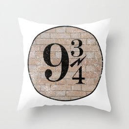 9 3/4 Nine and three-quarters platform King's Cross station london harry Throw Pillow