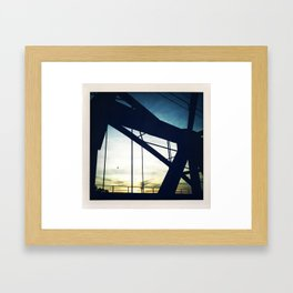 On the train Framed Art Print