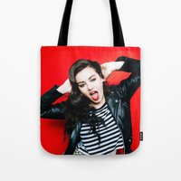 charli xcx Tote Bags featuring Charli XCX by behindthenoise