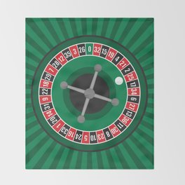 Roulette Wheel Throw Blanket
