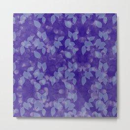 Purple Leaves in Dappled Sunlight Metal Print