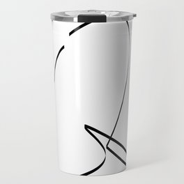 """ Singles Collection "" - One Line Minimal Letter Q Print Travel Mug"