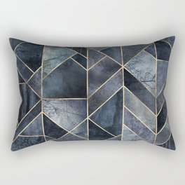 Abstract Nature - Dark Blue Rectangular Pillow