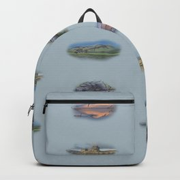 Highland Landmarks in blue Backpack
