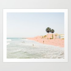 Pink Beach #society6 #decor #buyart Art Print