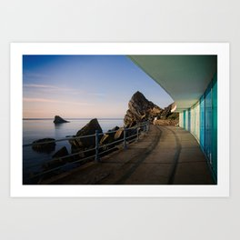 Meadfoot Beach Huts Art Print