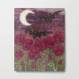 bats and roses Metal Print