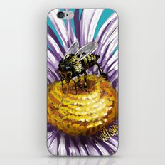 Wasp on flower 3 iPhone & iPod Skin