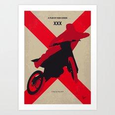 No728 My xXx minimal movie poster Art Print