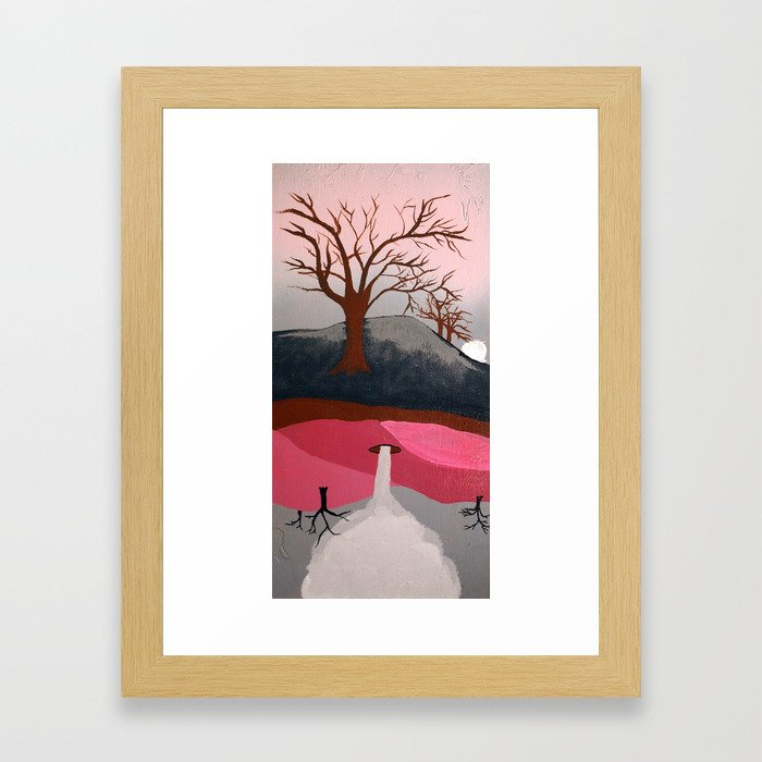 Abrupt Framed Art Print