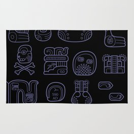 Picto-glyphs Story--Negro Rug