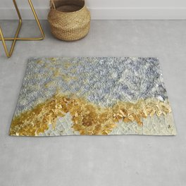 Gold Covered Mountains Rug
