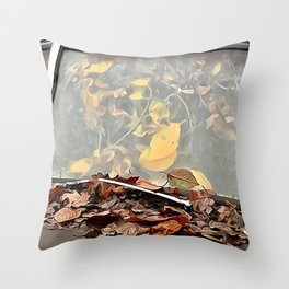 Tree growing in truck 2 Throw Pillow