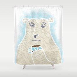 Sleepy Polar Bear Shower Curtain