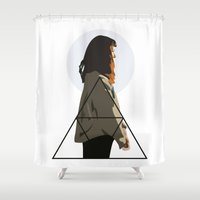 geometry Shower Curtains featuring Geometry by Anna McKay