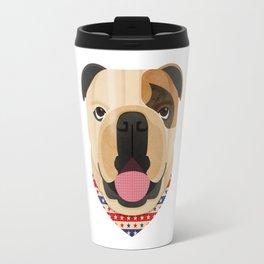 American Bulldog Dog Portrait Travel Mug