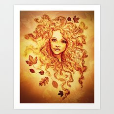 Autumn Bliss Art Print
