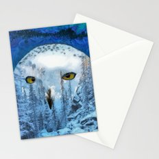 Snow winter owl Stationery Cards