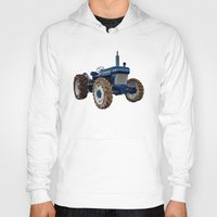 ford Hoodies featuring Ford 2810  by Rob Hawkins Photography