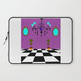 An Elegant Hall of Mirrors with Chandler and Topiary in Purples Laptop Sleeve