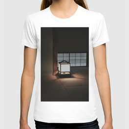 Japanese Lantern Glowing on the Tatami Floor of a Traditional Tea Room T-shirt
