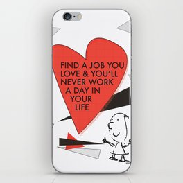 Love Work Awemous Quote iPhone Skin
