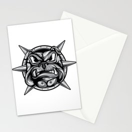 Certified Dog Lover?Here's a Unique t-shirt design with an illustartion of a Mad Pug Bulldog T-shirt Stationery Cards