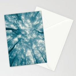 Smoky Mountain Summer Forest Teal - National Park Nature Photography Stationery Cards
