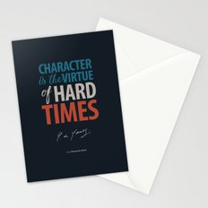 De Gaulle on Difficulties and Hard Times - Poster Illustration for inspiration and motivation Stationery Cards