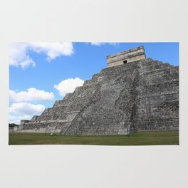 Chichen Itza Temple of Kukulcan south-west View Rug