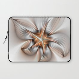 Elegance of a Flower, modern Fractal Art Laptop Sleeve