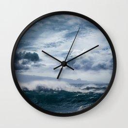 He inoa wehi no Hookipa  Pacific Ocean Stormy Sea Wall Clock