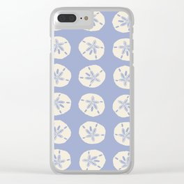 Sand Dollars Blue Clear iPhone Case