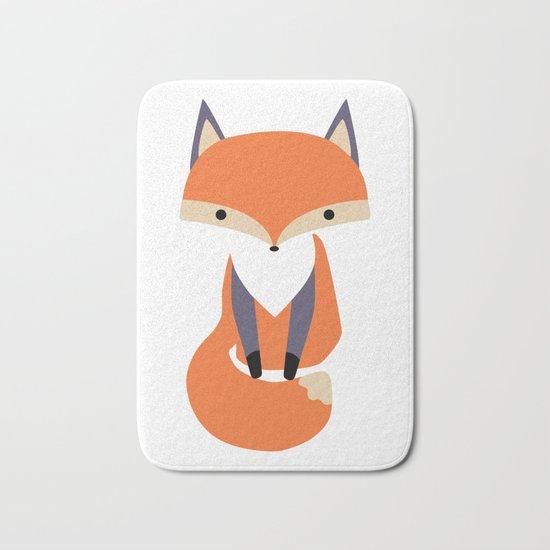 Little Fox Illustrion Bath Mat