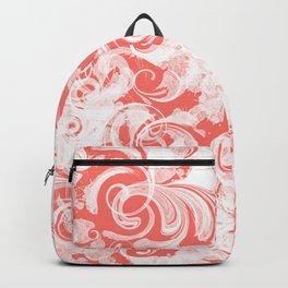 Fresh Splash & Swirls Pattern — Coral Backpack