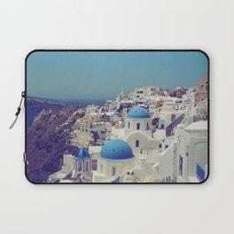 Blue Domes II, Oia, Santorini, Greece Laptop Sleeve