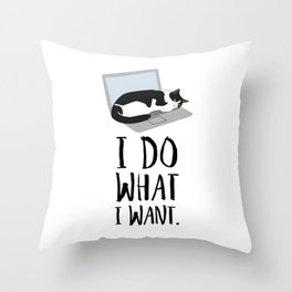 Cats Do What They Want Throw Pillow