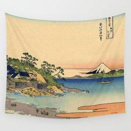 Hokusai -36 views of the Fuji 27 Enoshima in the Sagami province Wall Tapestry