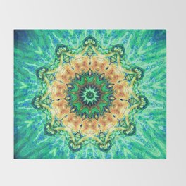 Turtle Kaleidoscope Throw Blanket