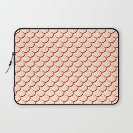 Orange Mermaid Print Laptop Sleeve